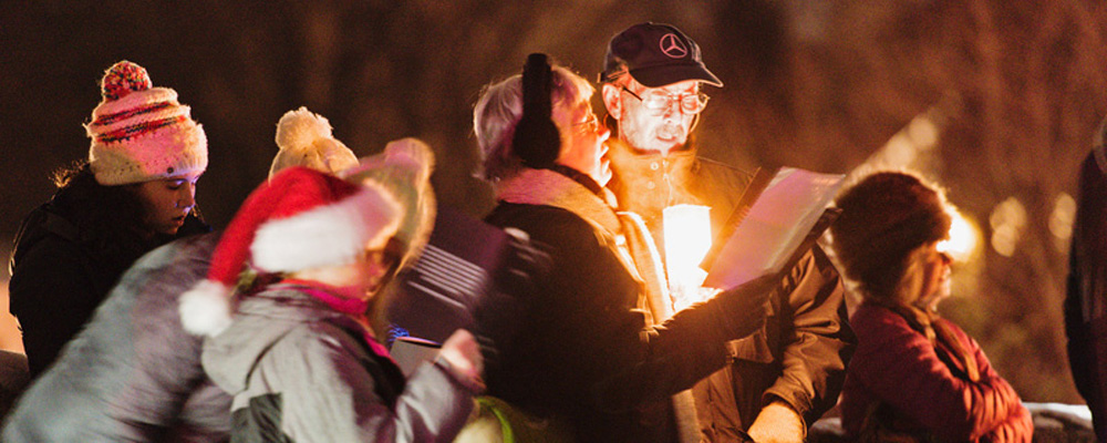 Darien Times: Approximately 200 Residents Turn Out for FOGP Caroling Event at Ring's End Bridge